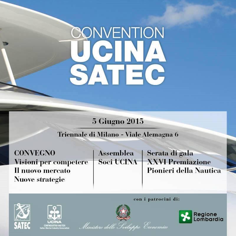 Convention UCINA SATEC 2015: domani venerdì 5 giugno alla Triennale di Milano