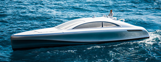 Le prime miglia dell'Arrow 460 Granturismo. Mercedes Benz sbarca in mare