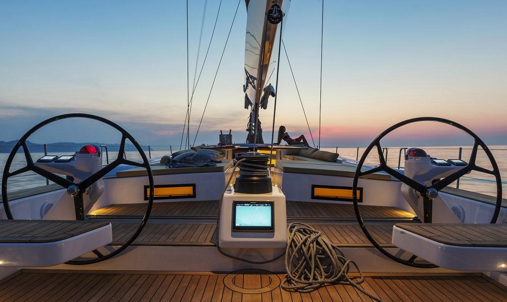 Advanced Yachts A80 sunset 2
