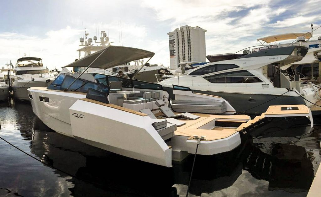 evo marine 43 Fort Lauderdale Boat Show