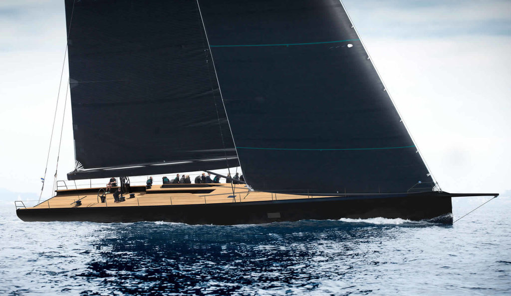 il maxi yacht Wally 93