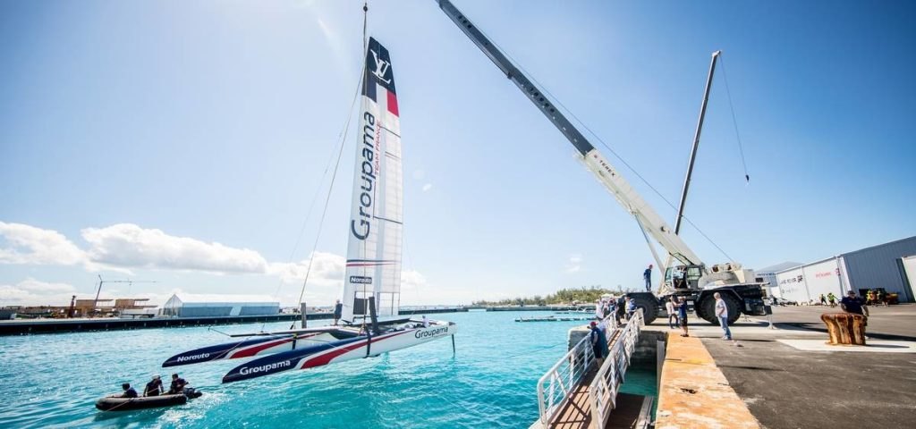 catamarano asimmetrico Groupama Team France 35a Coppa America