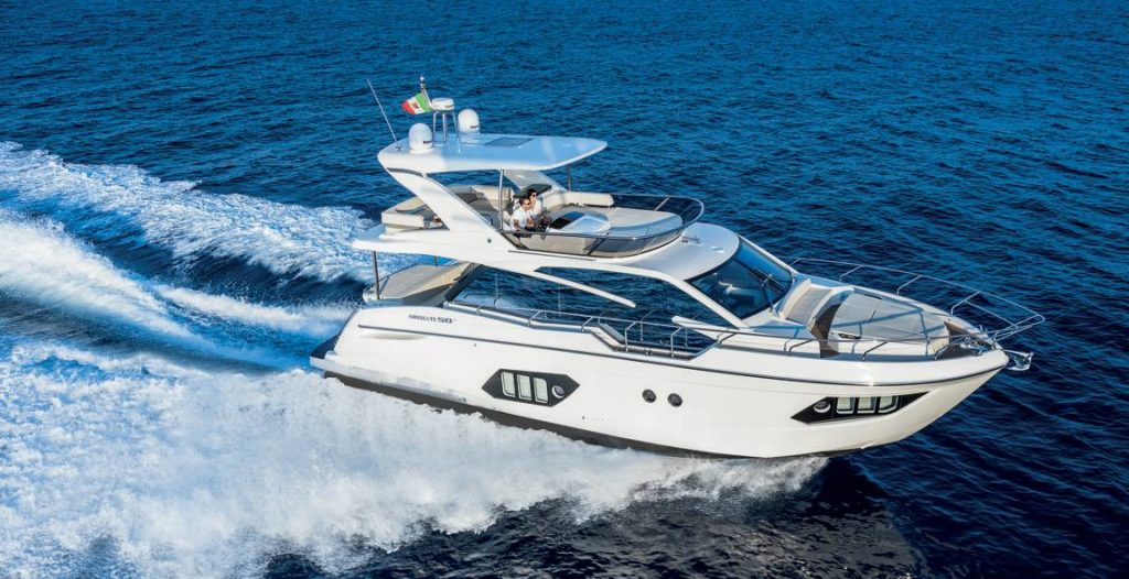 absolute yachts 50 fly navigazione