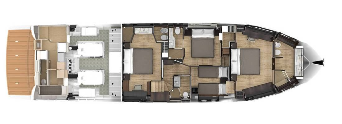 Absolute Yachts Navetta 73 layout