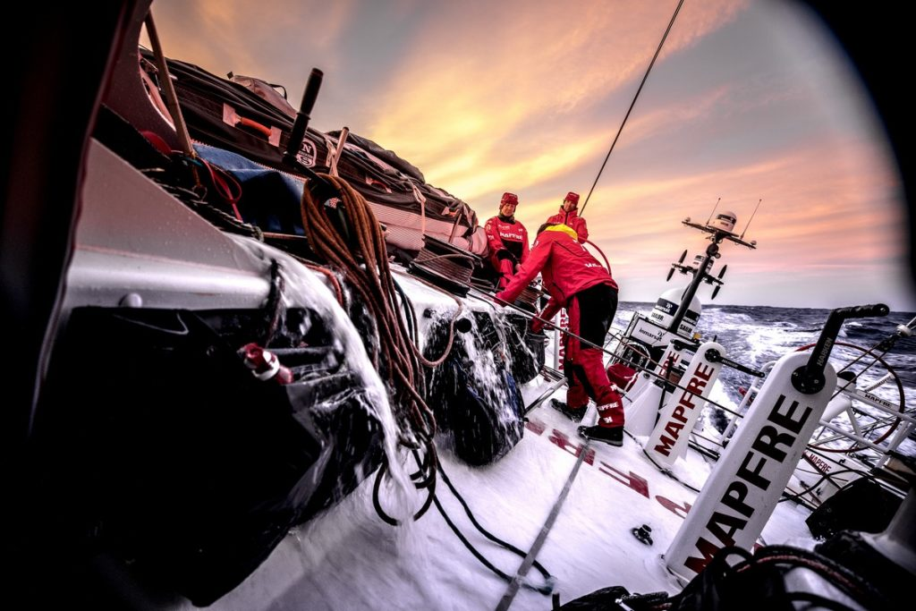 Leg 01, Alicante to Lisbon, day 05, on board MAPFRE. Photo by Ugo Fonolla/Volvo Ocean Race. 26 October, 2017