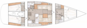 Contest 42CS layouts 2017 - 3 cabins