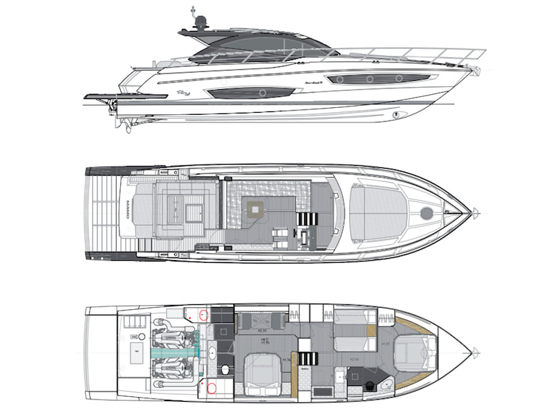 Sport coupe 56 Rio Yachts Layout