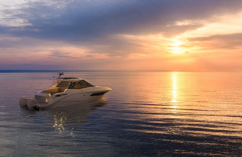 320 Sundancer Outboard Coupe sunset