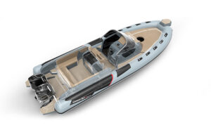 Cayman 28.0 Executive top view and engines