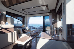 Sessa Marine Fly 42 main deck lounge